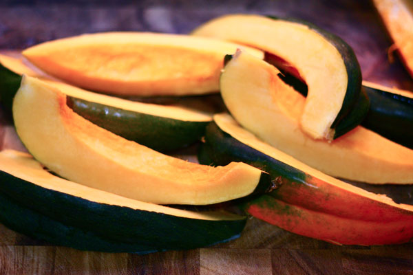 balsamic roasted acorn squash with shallots - The Talking Kitchen ...